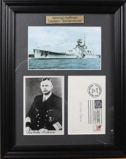 Kurt-Caesar Hoffmann WWII Nazi Autographed Photo