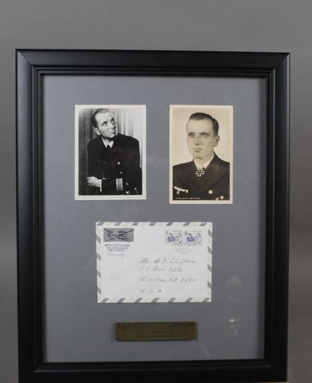WWII Nazi U-Boat Ace Otto Kretschmer Signed Photos