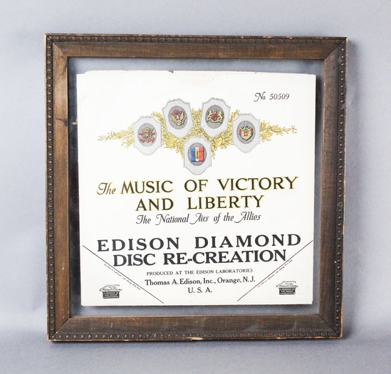 """Edison Disc Record """"Let Us Not Forget"""" JACKET ONLY"""