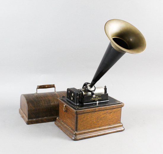 Edison 2/4 Minute Fireside Cylinder Phonograph