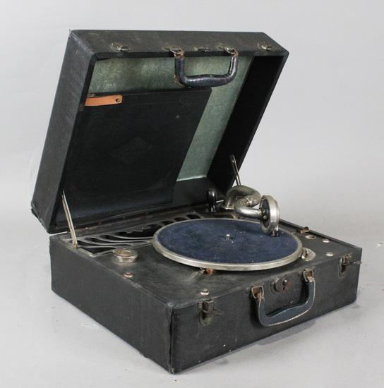 Silvertone Suitcase Portable Phonograph