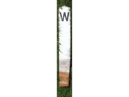"""W"" Railroad Marker"