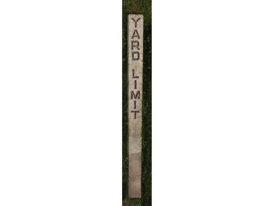 """""""Yard Limit"""" Railroad Marker"""