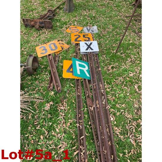 Railroad Signs & Posts (8)