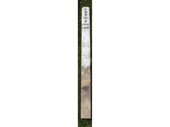 """LS & MS Land Line"" Railroad Marker"