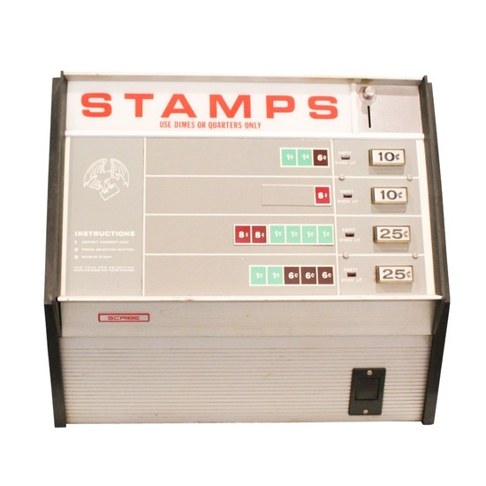 Scribe Coin Operated Stamp Dispenser