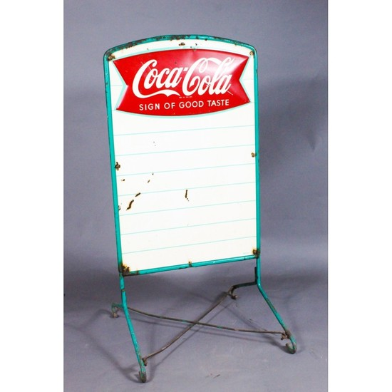 """Coca-Cola Sign of Good Taste"" Standing Menu Board"