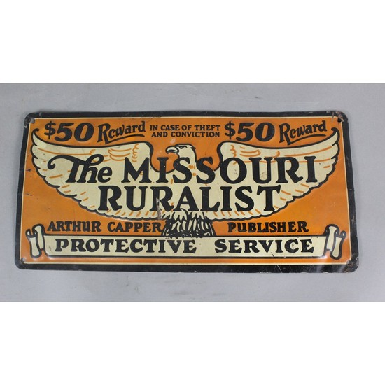 """The Missouri Ruralist"" Sign"