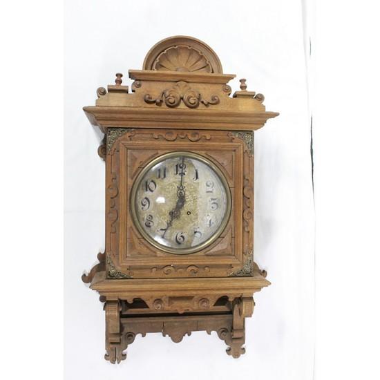 Ornate Wood Wall Clock