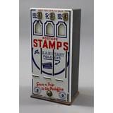 Vintage Porcelain Coin Op Stamp Machine