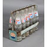 Pepsi Cola Bottles in Holder (12)