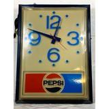 Pepsi Hanging Clock Sign