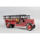 Structo Pressed Steel Fire Truck Toy