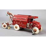 Hubley Cast Iron Bell Telephone Toy Truck