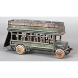 Freidag Cast Iron Double Decker Toy Bus