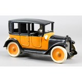Cast Iron Yellow Taxi Toy