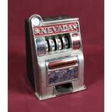 Vintage Toy Cast Metal Slot Machine Bank