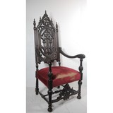 Antique Gothic Theater Chair