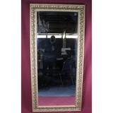 Large Framed Beveled Mirror