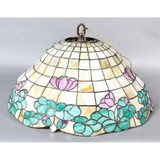 Antique Bell Shaped Leaded Stained Glass Shade