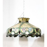 Antique Leaded Stained Glass Ceiling Shade