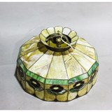 Vintage Leaded Stained Glass Ceiling Light