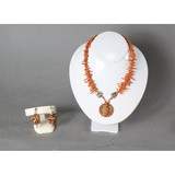 Victorian Coral Necklace & Earring Set