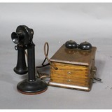 Western Electric Candlestick Phone and Ringer Box