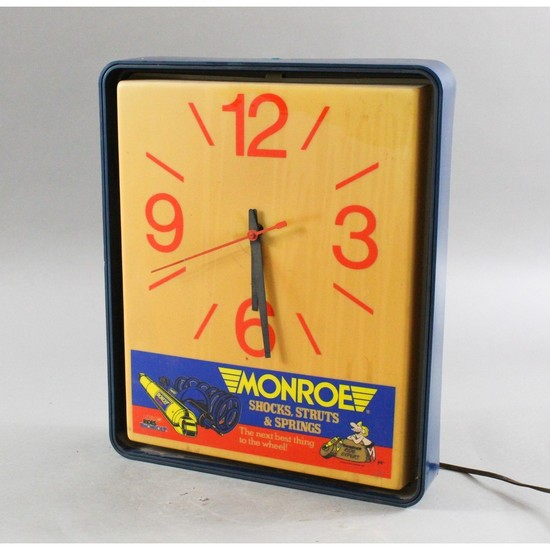 Vintage Automotive Monroe Shocks Wall Clock