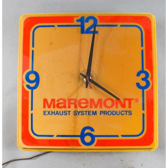Vintage Gas Station Light Up Clock