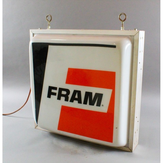 "Vintage Automotive ""Fram"" Gas Station Sign"
