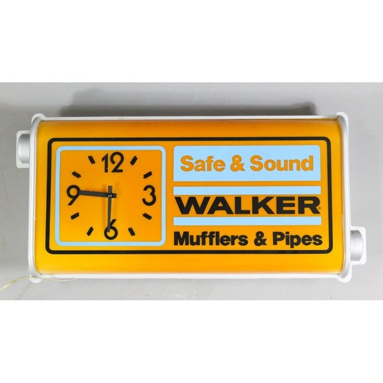 Vintage Gas Station Light Up Walker Muffler Sign