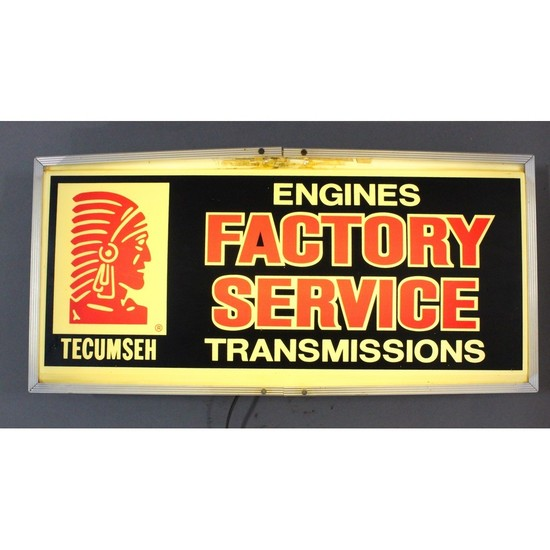 Vintage Automotive Tecumseh Engine Sign