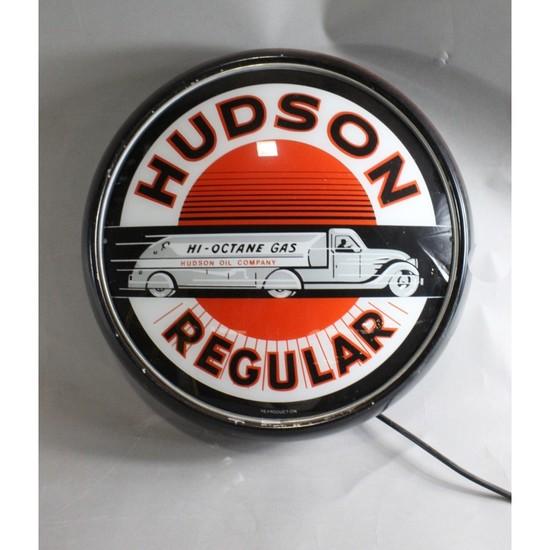Contemporary Gas Station Light Up Hudson Sign