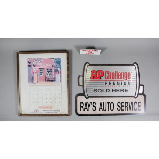 """""""Ray's Auto Service"""" Signs (3)"""