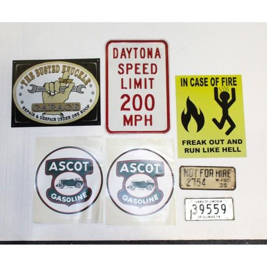 Vintage Style Contemporary Metal Display Signs