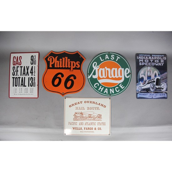 Vintage Style Gas and Oil Signs (5)