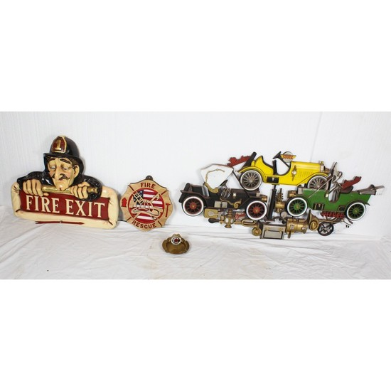 Vintage Style Garage Signs and Ashtray (4)