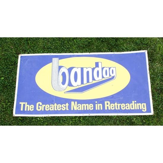 """Bandag"" Tin Service Station Sign"