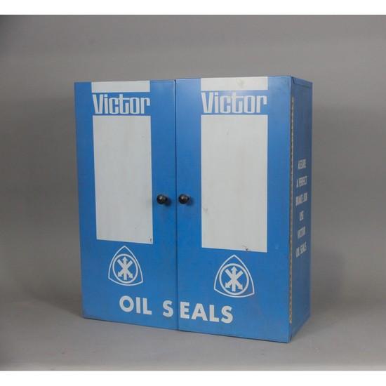 Automotive Gas Station Victor Parts Cabinet