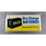 Vintage Delco Battery Light Up Sign
