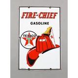 Vintage Porcelain Gas Pump Sign