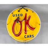 Contemporary Neon Sign OK Used Cars