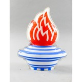 Standard Oil Flame Globe In Holder