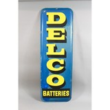 Vintage Delco Battery Tin Sign