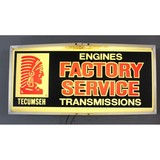 Vintage Automotive Tecumseh Engine Sign