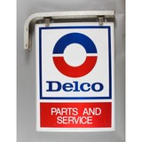 Vintage Hanging Delco Sign