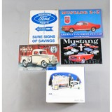 Ford Snow Village, Mustang, Ford Car Signs (5)