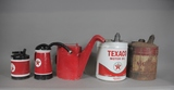 Vintage Gas Station Oil, Water, Gas Metal Cans (5)