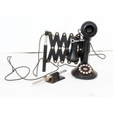 Vintage Style Candlestick Telephone w/ Holder